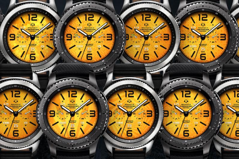 HERA chronoscope D1803 yellow